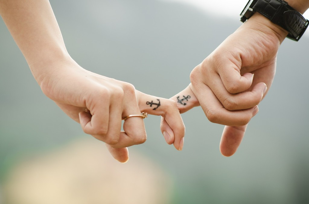 holding hands anchor